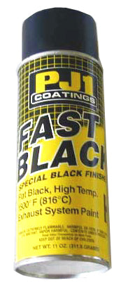 PJ1 Fast Black (Flat Black 1500 Degree Exhaust Paint)