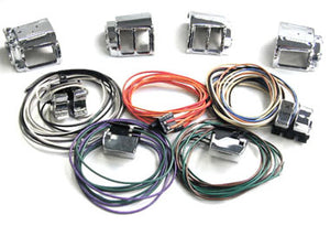 Complete Handlebar Switch Housing Kit w/ Wires, 82 / 95