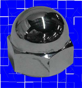 Chrome Stem Nut for Most Models (1-24 OD Thread)