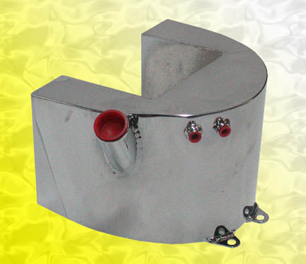 Custom Horseshoe Oil Tank For Kickstart Big Twin (With Filter, 3