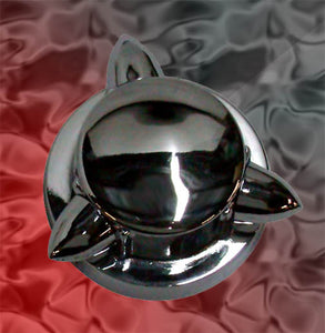 Kromett Style Gas Cap Cover (1936-Early 1973 Caps)