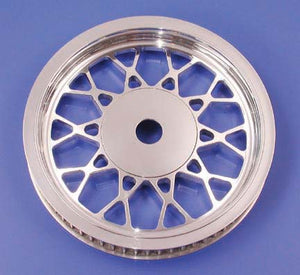 Mesh Rear Pulley (65 Tooth, Chrome, 1999-Earlier)