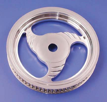 California Dagger Rear Pulley (65 Tooth, Chrome, 1999-Earlier)