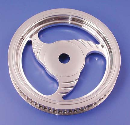 California Dagger Rear Pulley (70 Tooth, Chrome, 1999-Earlier)