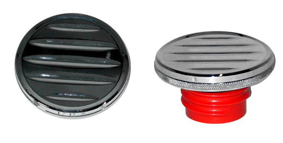 Ness-Tech Grooved Non-Vented Gas Cap (Left Side)