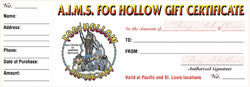 Fog Hollow Gift Certificate