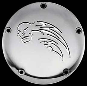 Tribal Skull Derby Cover (1999-2002 Twin Cam)