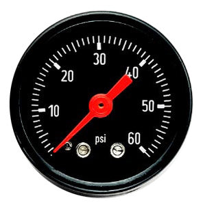 VDO Oil Pressure Gauge (Black Face With Black Bezel)