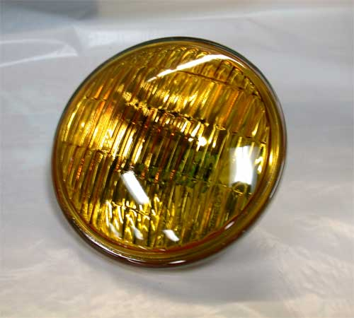 Replacement Sealed Beam (Fluted Amber, 12V)
