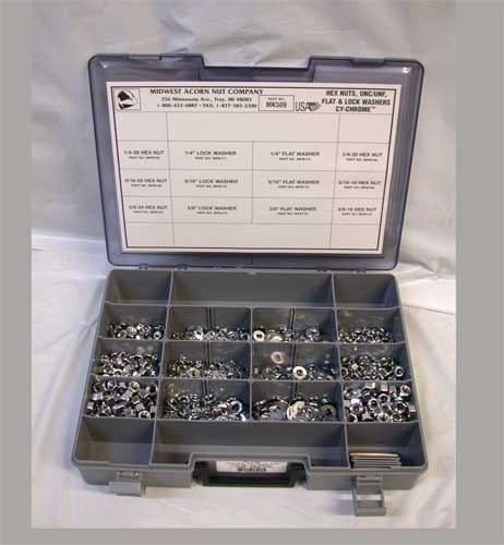 Chrome Allen Head Screw Assortment Tray (Course Thread)