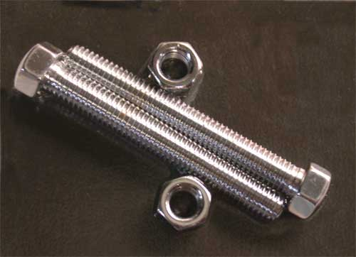 Rear Axle Adjuster for Softail 1993-Later (Chrome Hex Head)