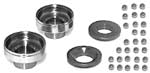Chrome Neck Cup Kit Ironhead & K 52-77 (Cups, races, bearings)