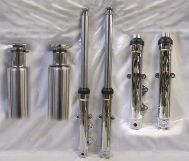 Stock Length Slider Tubes (Single Disc, Chrome Plated)
