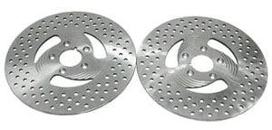 Stainless Steel 3 Spoke Drilled Brake Disc (Dual Disc, Front 198