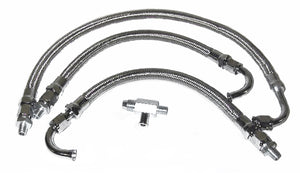 Braided Stainless Oil Line Kit For Big Twin (1968-1991)