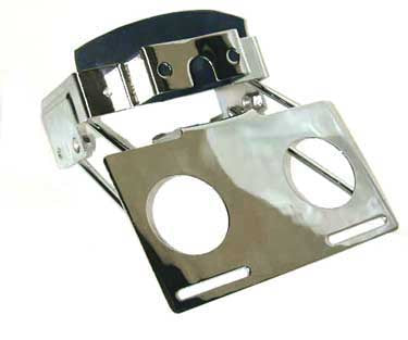 License Plate/Light Bracket (Chrome Plated)