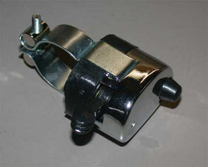 "Chrome Dimmer Switch w/ Horn Button For Custom Use 1"" O.D."