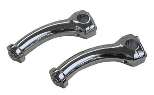 Deuce Style Pullback Risers for H-D Models - Chrome