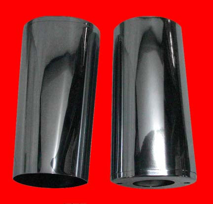 Fork Tube Covers (Chrome, Wide Glide, Stock)
