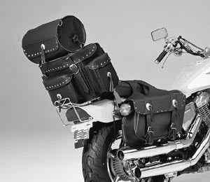 Sissy Bar/Travel Case With Road Travel Bag (Riveted Style)