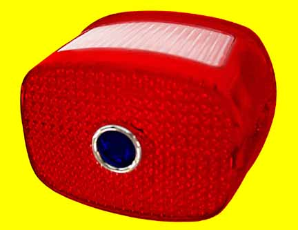 Late Style Taillight Lens With Blue Dot Installed