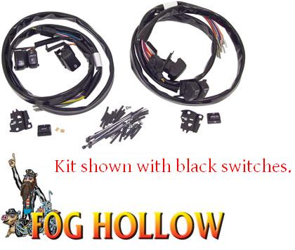 Handlebar switches & wiring kit for touring models