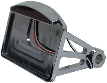 Side mount horizontal taillight & license plate bracket