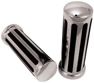 Chrome Rail Handlebar Grip Set For Fly-By-Wire model 08/Later