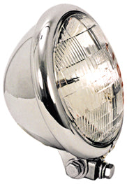 "Chrome 5 3/4"" headlight for custom use"
