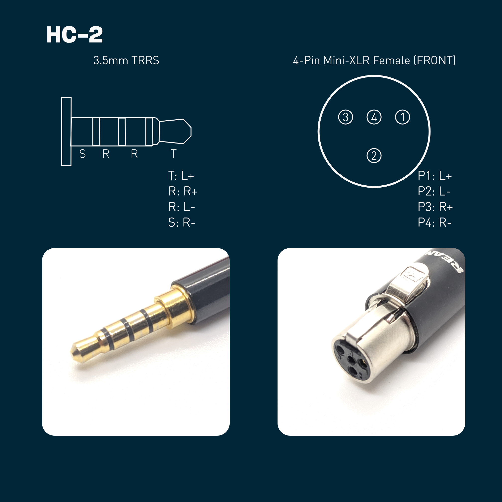 HC-2: 3.5mm TRRS Balanced Headphone Cable