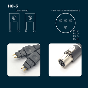 HC-5: Dual Senn Balanced Headphone Cable