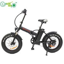 Mini foldable electric bike with fat tires - EBikesNMore.com