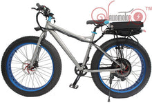 "Conhis motor fat tire  26"" electric bicycle with rear carrier and multi color rims - EBikesNMore.com"