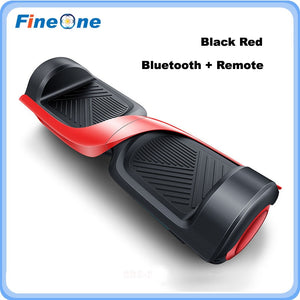 Red black self balancing hoover board with remot control - EBikesNMore.com