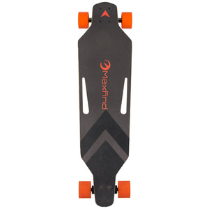 Maxfind black and orange light weight skateboard - EBikesNMore.com