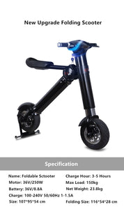 New electric folding bicycle with scooter capabilities - EBikesNMore.com