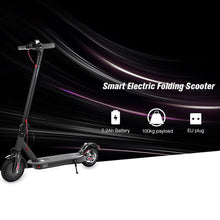 Black folding electric scooter with disc break - EBikesNMore.com