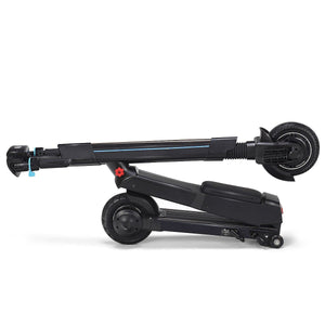 Black folding electric scooter with sitting option - EBikesNMore.com