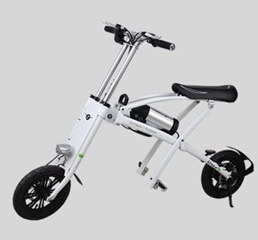 12 inch foldable electric folding bike with 8ah samsung battery - EBikesNMore.com