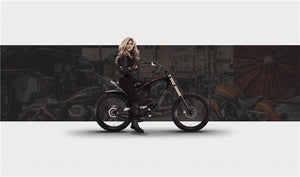 Hally style frame electric bicycle with kenda tires - EBikesNMore.com