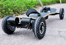 Four wheel wooden skateboard with all terrain tires and remot control - EBikesNMore.com
