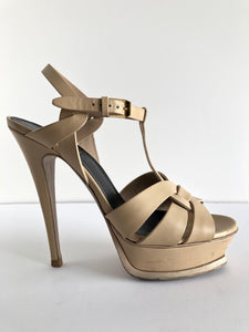 d0262544547 YSL Tribute Leather Nude/Powder Sandals - SIZE 39 (9 US)