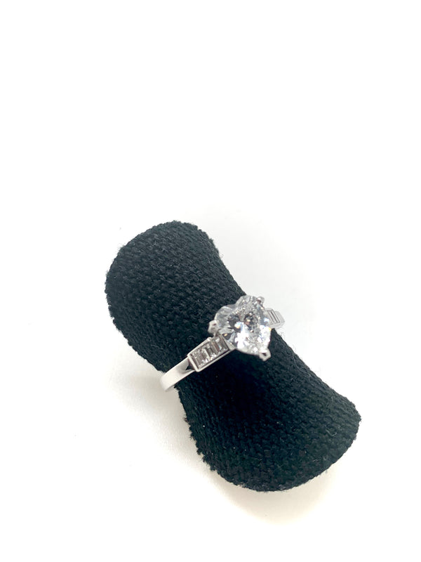 SOLITAIRE DIAMANT COEUR 1,28ct