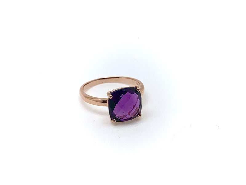 BAGUE OR ROSE AMETHYSTE