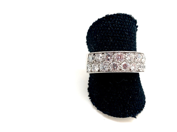BAGUE RUBAN DIAMANTS