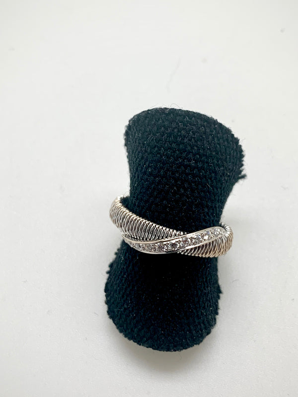 BAGUE OR BLANC PAVAGE DIAMANTS