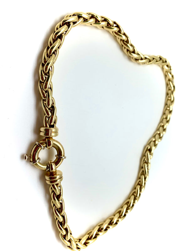 COLLIER OR 18K MAILLE PALMIER