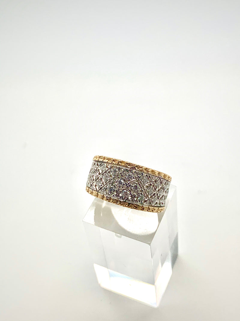 BAGUE DENTELLE 2 ORS DIAMANTS