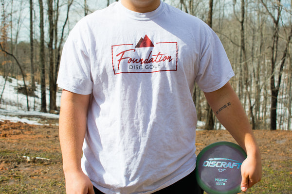 Foundation Disc Golf custom t shirt as worn by Paul McBeth, Emerson Keith, and Hannah McBeth
