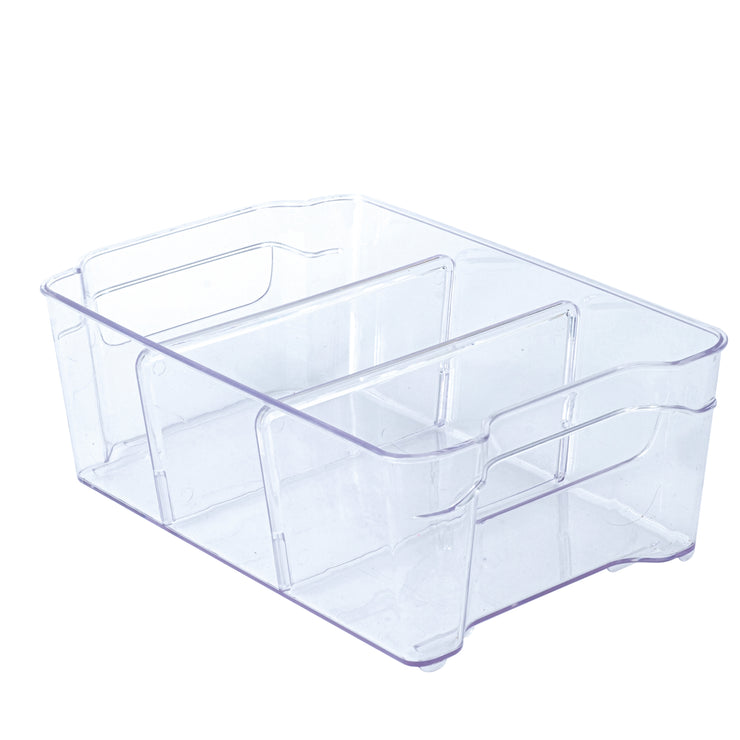 Clear Bin with Dividers